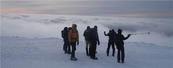 Winter Group above cloud inversion